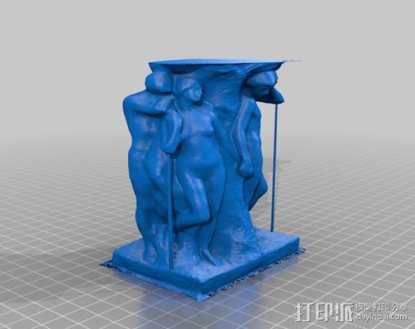 灵魂的孤独 雕塑 3D模型  图4