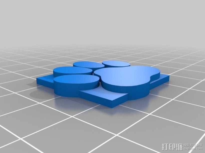 小爪印 3D模型  图1