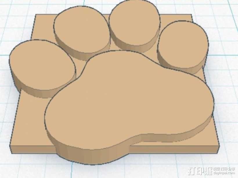 小爪印 3D模型  图2