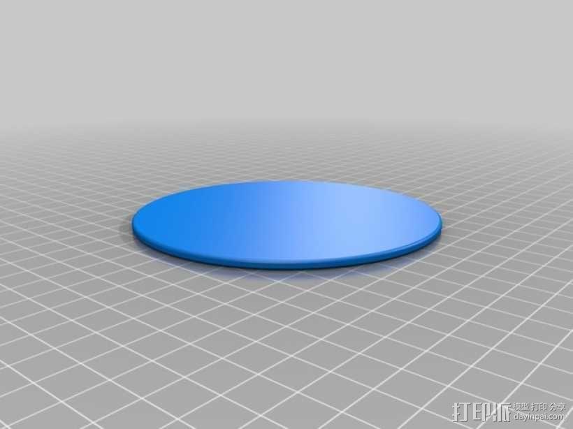 小猫杯垫 3D模型  图2