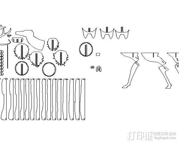 公鹿 3D模型  图5