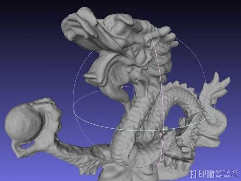 中国龙 3D模型  图2