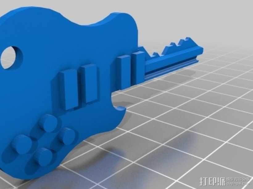 键盘吉他  3D模型  图2