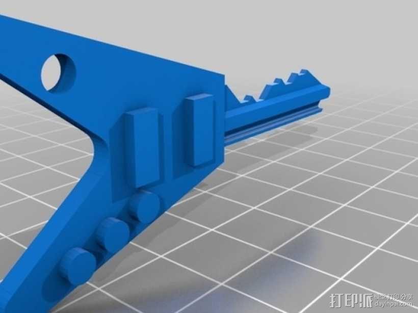键盘吉他  3D模型  图3