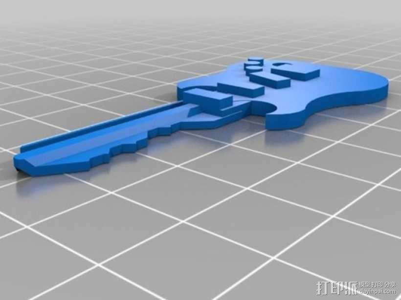 键盘吉他  3D模型  图6