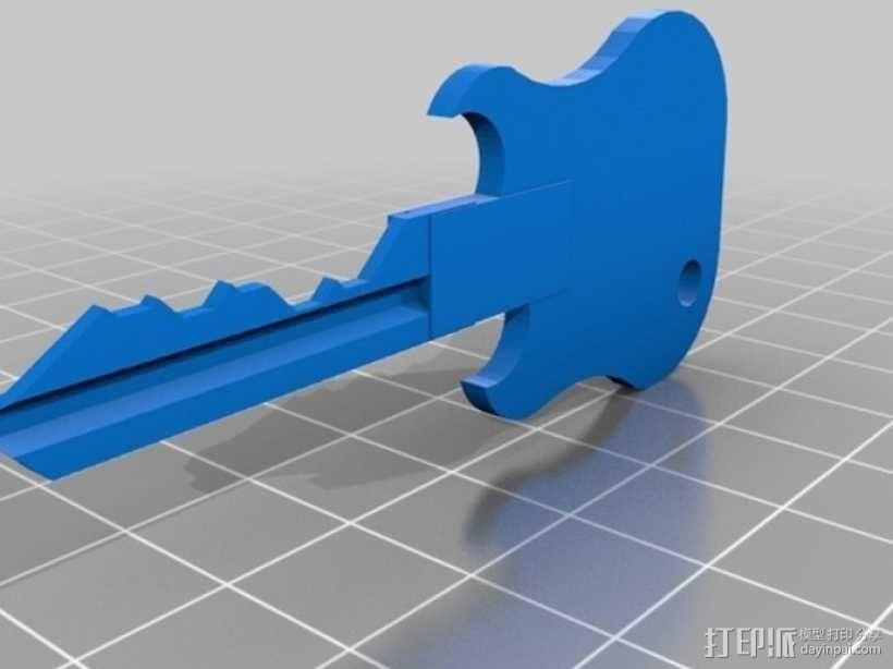 键盘吉他  3D模型  图7