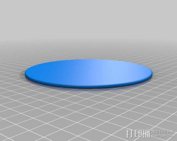 小猫杯垫01 3D模型  图5
