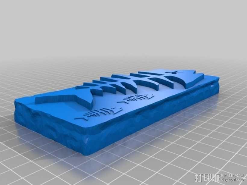 鱼骨化石 3D模型  图1
