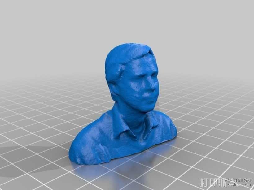 自画头像 3D模型  图1