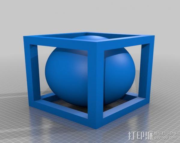 立方体 小球 3D模型  图2