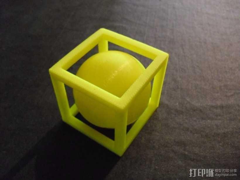 立方体 小球 3D模型  图1