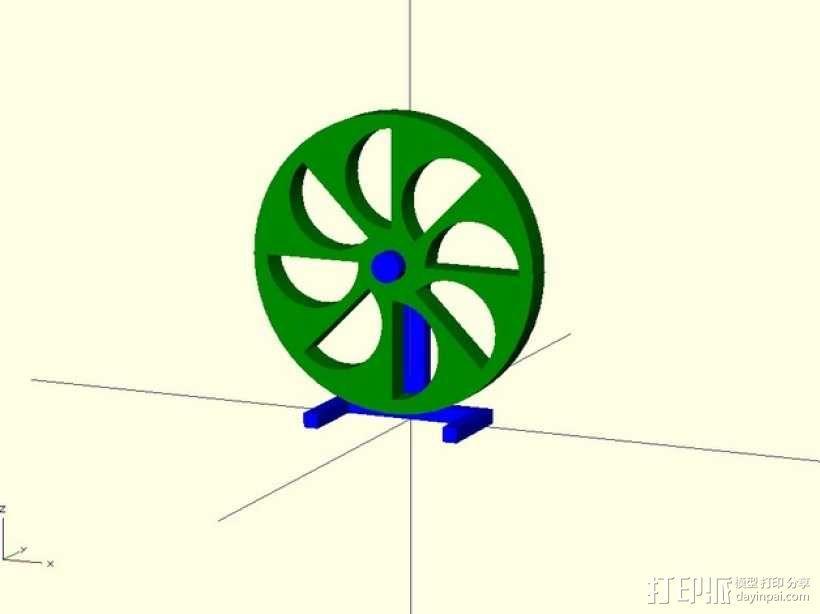 定制化永动轮 3D模型  图1