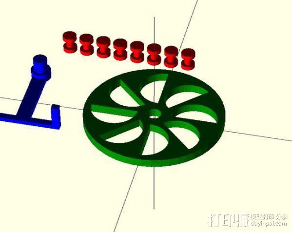 定制化永动轮 3D模型  图2