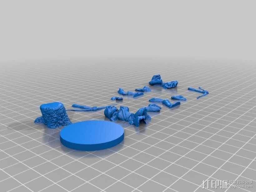 女弓箭手 3D模型  图2