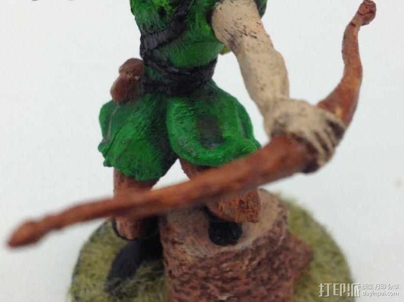 女弓箭手 3D模型  图4