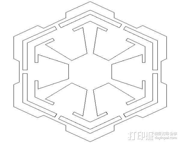 《星球大战》西斯标志 3D模型  图2