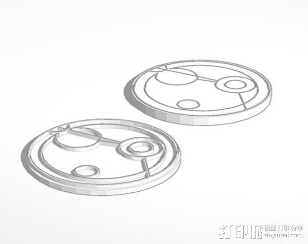 游戏《时间领主》Gallifreyan硬币 3D模型  图1