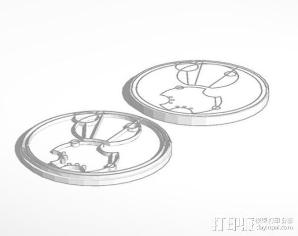 游戏《时间领主》Gallifreyan硬币 3D模型  图4