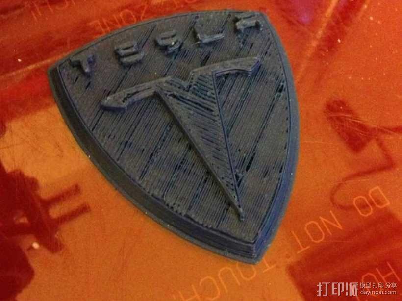特斯拉汽车 标志 3D模型  图1