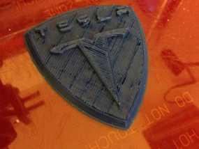 特斯拉汽车 标志 3D模型