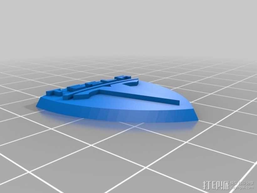 特斯拉汽车 标志 3D模型  图3