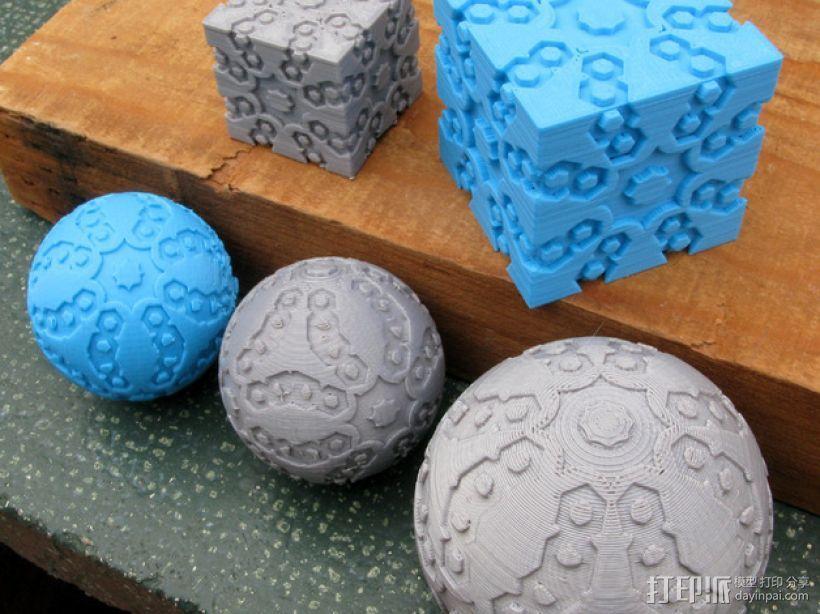 立方体 球体 3D模型  图1