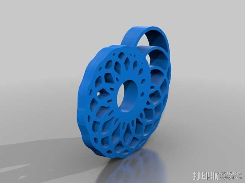 鹦鹉螺 面板 3D模型  图1