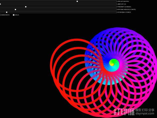 鹦鹉螺 面板 3D模型  图3