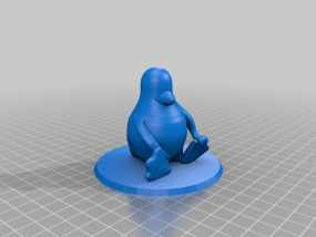 Tux企鹅 吉祥物 3D模型