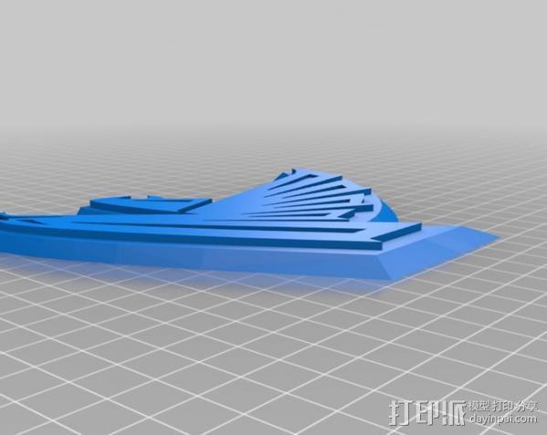 亚特兰大猎鹰 标志 3D模型  图1