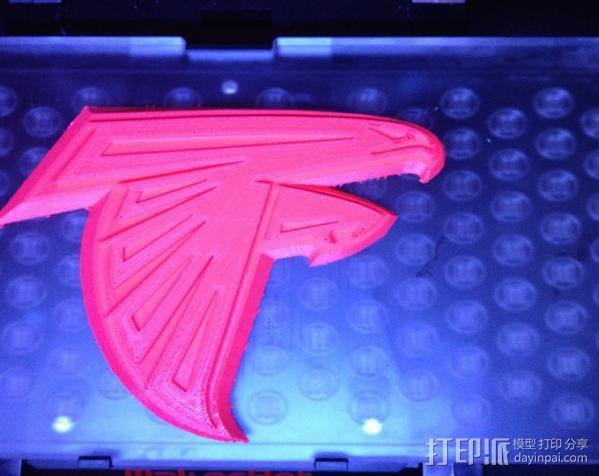 亚特兰大猎鹰 标志 3D模型  图2