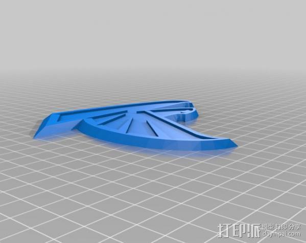 亚特兰大猎鹰 标志 3D模型  图4