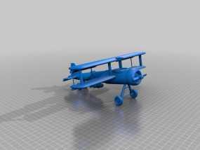 双翼飞机 3D模型