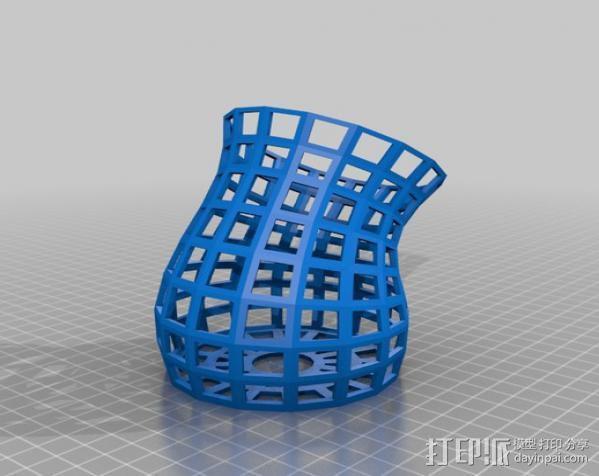镂空花瓶 3D模型  图2
