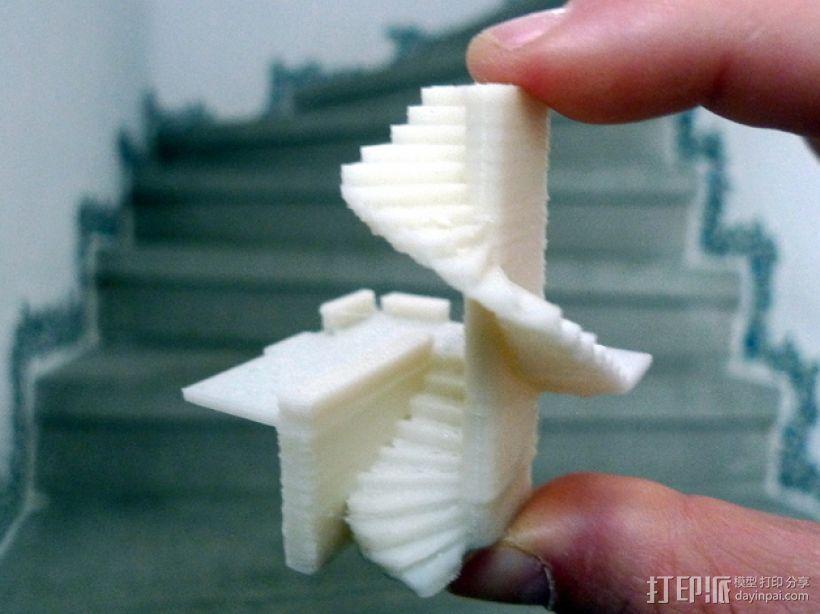 楼道 楼梯 3D模型  图2