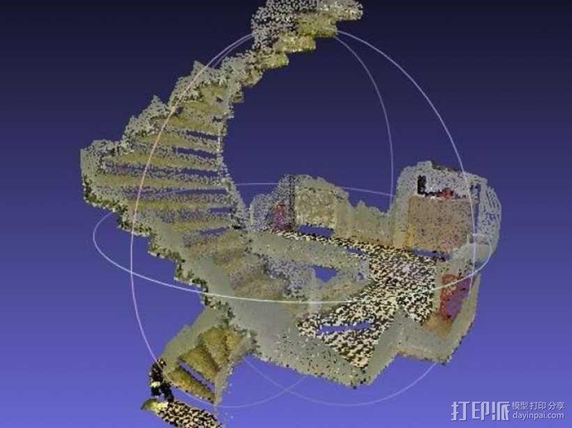 楼道 楼梯 3D模型  图3