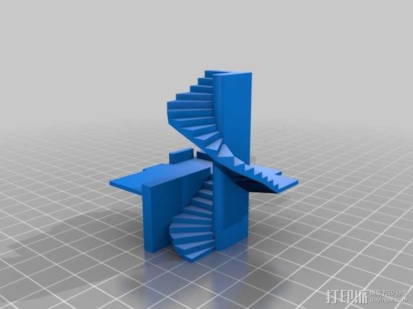 楼道 楼梯 3D模型  图1
