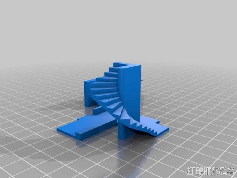 楼道 楼梯 3D模型  图6