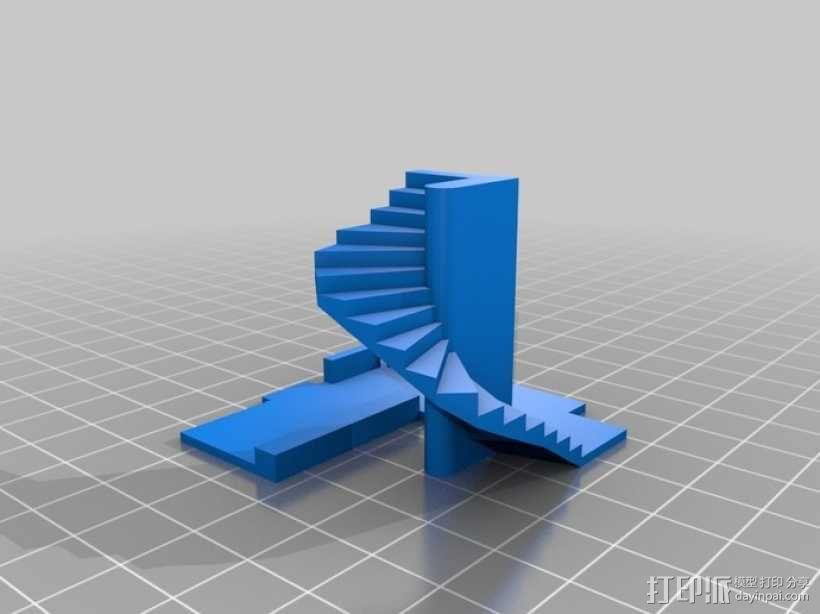 楼道 楼梯 3D模型  图4