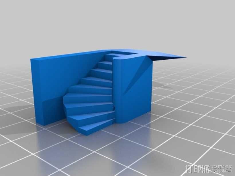 楼道 楼梯 3D模型  图5
