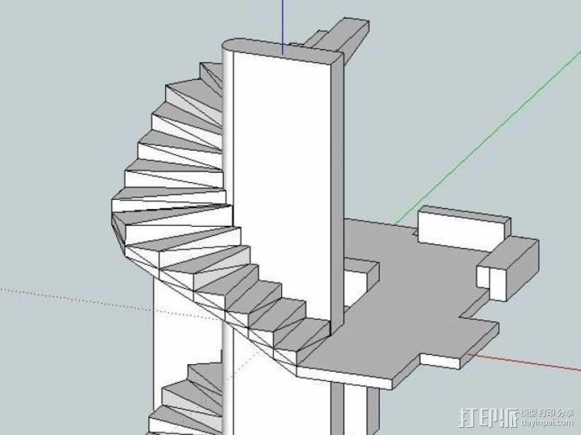 楼道 楼梯 3D模型  图8
