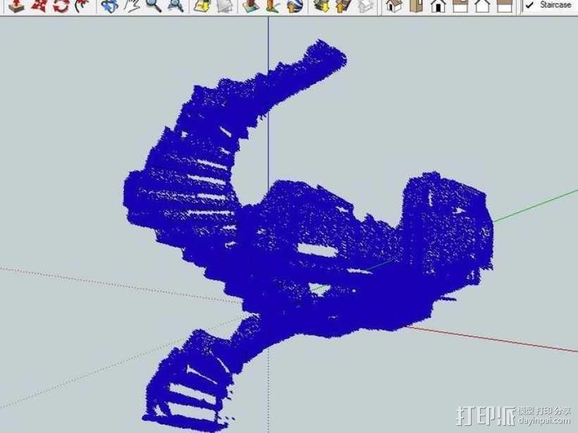 楼道 楼梯 3D模型  图7