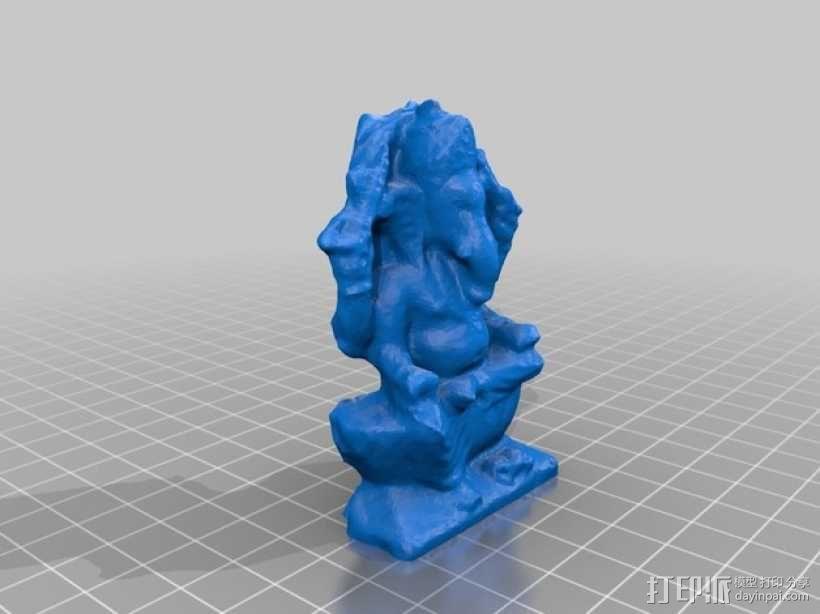 伽内什 印度神像   3D模型  图2