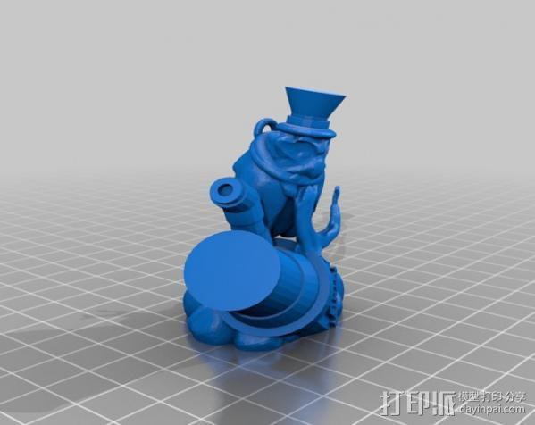 蒸汽朋克老鹰 装饰品 3D模型  图1