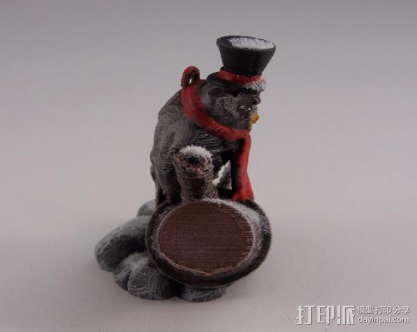 蒸汽朋克老鹰 装饰品 3D模型  图5