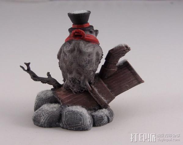 蒸汽朋克老鹰 装饰品 3D模型  图4