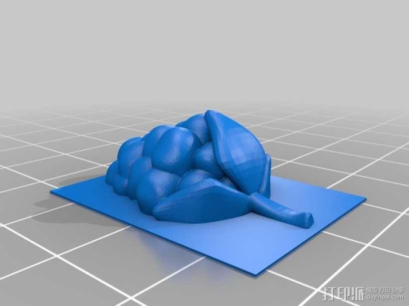 树莓  3D模型  图1