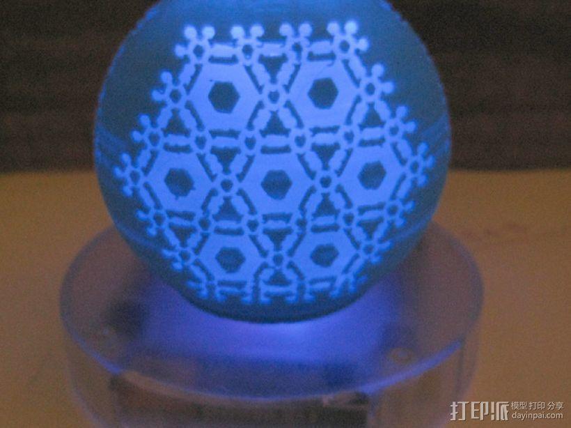 半透明雪花装饰品 3D模型  图1