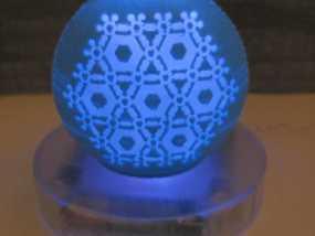 半透明雪花装饰品 3D模型