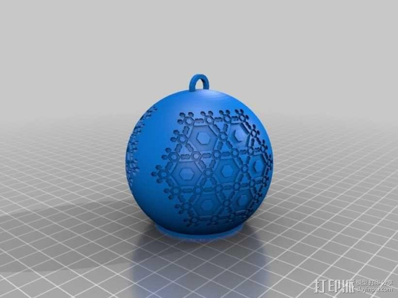 半透明雪花装饰品 3D模型  图2